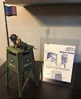 GI Joe 1984 Guard Watch Tower Battle Station Complete w Blueprints and ROADBLOCK