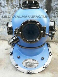 X-Mas Christmas 18 Inch Us Navy Diving Helmet Mark V Deep Sea Divers Helmet TP