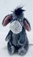"Disney Parks Eeyore Beanie Plush 8"" Shaggy Grey Fur"