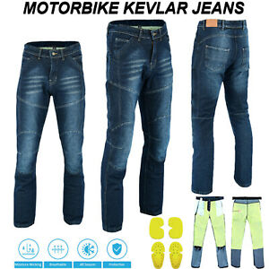 CE Motorbike Motorcycle Jeans Trouser MADE with KEVLAR Denim Pants Armour Lined
