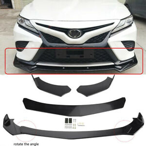 For Toyota Camry SE XSE Front Bumper Spoiler Lip Splitter Body Kit Glossy Black