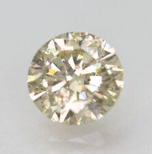 Cert 1.53 Carat Light Yellow SI1 Round Brilliant Enhanced Natural Diamond 7.51mm