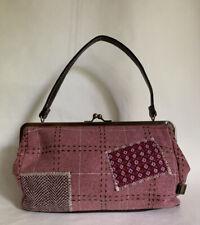 Lollipops Vintage Inspired Dusky Pink 100% Wool Top Handle Handbag