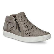 Ecco Women's Sneaker Boot Stone Gray Metallic Soft 7 Mid-Cut Sz 7-7.5 38 NEW