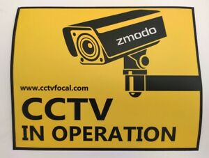 10 X NEW pieces of CCTV security surveillance warning stickers Zmodo  16 x 21cm