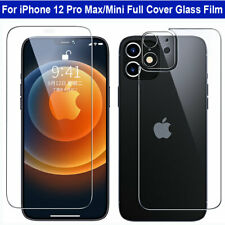 Tempered Glass Front+Back+Lens Screen Protector Film for iPhone 12 Pro Max/Mini