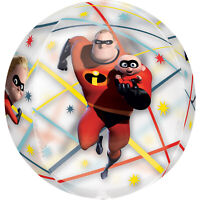 """ANAGRAM THE INCREDIBLES 2 CLEAR 15"""" ROUND ORBZ BALLOON"""