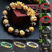 2019 Feng Shui Black Obsidian Alloy Wealth Bracelet High Quality Unisex