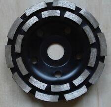 Diamant Schleiftopf doppelreihig Schleifteller Beton Schleifscheibe 125 mm M14