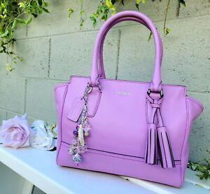 RARE lilac Coach 24204 Legacy med candace satchel shoulder handbag purse handbag