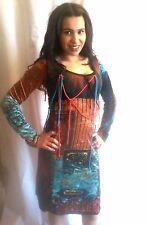 Robe save the queen neuve magnifique couleurs vives,nylon,dentelle...taille M