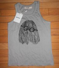 Bobo Choses Clever Ghost Tank Top Grey Size 10 - 11 New with Tag