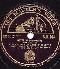 Eddie South Orchestra + Everett Barksdale  : Gotta Go ! + My ! Oh My !