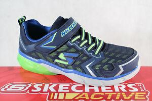 Skechers Baskets Chaussures à Lacets de Sport Bleu/Vert Neuf
