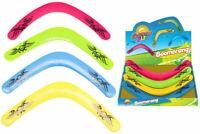 Neon Colour Boomerang Toy 40cm Summer Garden Beach Outdoor Fun Kids Toy New