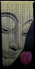 Buddha Hand Painted Bamboo Beaded Curtain - New - Free Shipping 48 State