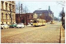 Foto im AK-Format, Berlin Moabit, Invalidenstr., Straßenbahn, 1962