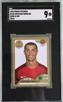 Cristiano Ronaldo 2018 Panini World Cup Sticker Gold SGC 9 Mint