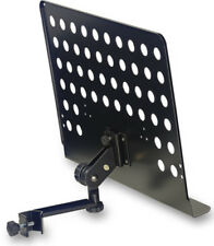 Stagg MUS-ARM 2 Notenständer zum Anklemmen mit Lochblechauflage Metall schwarz