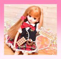 ❤️Takara Tomy Licca Rika-Chan Doll wearing School Uniform Outfit LW-08 Japan❤️