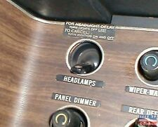 Mopar Dodge Plymouth Challenger Cuda Fury Headlight Delay Decal Sticker
