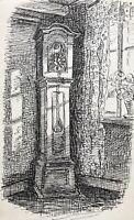 Karl Adser 1912-1995 Antike Standuhr Pendeluhr Dielenuhr Interiuer Dänemark