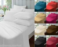 PERCALE COTTON BLEND EXTRA DEEP FITTED SHEETS / FLAT SHEETS / VALENCE SHEETS