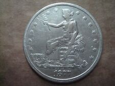 1877 US SILVER SEATED TRADE DOLLAR XF DETAILS AUTHENTIC COIN FREE SHIP USA NoRes