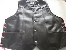 Real leather Waistcoat Size 3xl . Please read The Description.