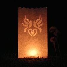 10x Luminary Heart Paper Candle Tea Light Lantern Bags Wedding Party Garden Xmas