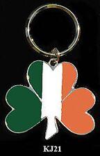Large Shamrock Key Ring with Irish Colors