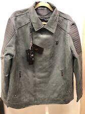 VG World Collection Men's Suede LEATHER Jacket Turquoise color US Size Large New
