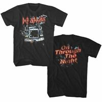 Def Leppard On Through the Night Men's T Shirt Rock Band Album Cover Tour Merch