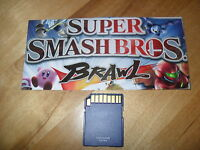 Super Smash Bros. Brawl Nintendo Wii SD Memory Card UNLOCKED (ALL FIELDS & MORE)