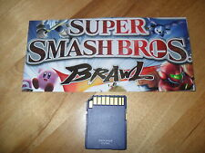 Super Smash Bros. Brawl Nintendo Wii SD Memory Card UNLOCKED ALL FIELDS & LEVELS