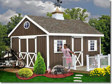 Easton1216 Ezup Best Barns12x16 ft Pre-Cut Pre-Built Wood Storage Shed Barn Kit