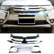 Front Grille Insert+ABS Plating Guard Trim For Mitsubishi Outlander 2016_2018