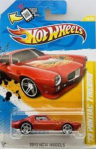 2012 Hot Wheels Red 1973 Pontiac Firebird New Models Series 16/50 Card # 16/247