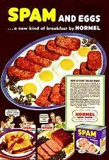 Poster Vintage Publicidad de spam A3 reimpresión