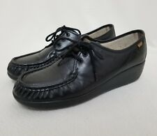 c11da04a2a8 SAS Bounce Lace Up Comfort Shoes 11 N Moccasin Toe Black Handsewn Leather