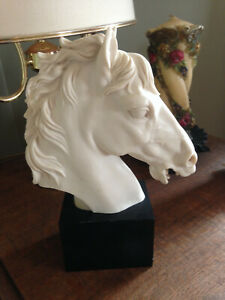 "Caravaca Antique Horse Head Sculpture  13"" Tall"