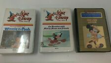 Lot of 3 Beta tapes: Walt Disney Winnie the Pooh, Mickey Mouse on Vacation, Life
