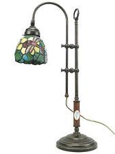 Lampada ottone invecchiato da tavolo,scrivania,lampade con vetro tiffany slg22
