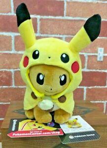Pokemon Center Eevee In Pikachu Cape Plush NWT