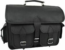 """Bag Satchel Messenger 18"""" Vintage Womens Genuine Real Leather Handbag Shoulder"""