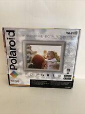 "*NEW* Polaroid 8"" WiFi Digital Photo Frame Textured Metal Silver (PDWX-800NT)"