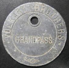 Swiss token - Volkart Brothers (1872) Grandpass Mills - P#104 rare 45.5mm