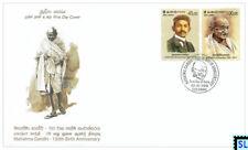 Sri Lanka Stamps 2019, Mahatma Gandhi, India, FDC