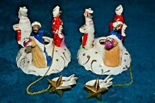 Commodore 3 Wise Men Candle Climber Star Of Bethlehem Candle Holder Vintage Pair