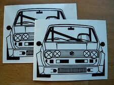 2 VW Golf Autocollants moteur 17x13cm Sport Motif Racing Tuning Sticker Décalque OISEAU RARE
